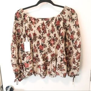 NWT Aritzia Wilfred floral blouse
